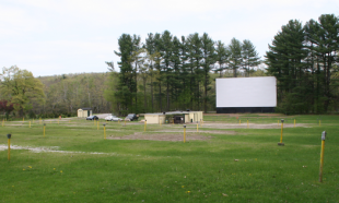 Back corner of the drive-in